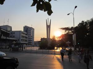 Sunset in Pristina
