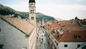 Duck cam view of Stradun, the main street