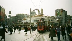 Beyoğlu and tram
