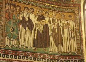 Justinian mosaic at San Vitale