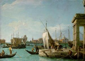 The Dogana at Venice (Canaletto)