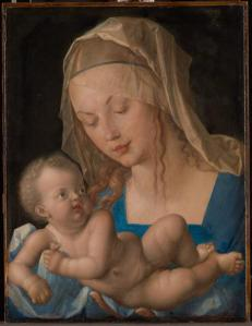 Madonna and child with pear (Durer)