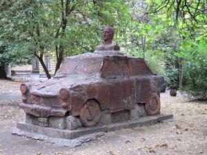 A Trabant breaks down
