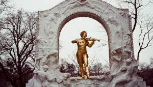 Strauss statue