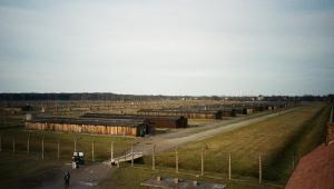 View of Birkenau camp