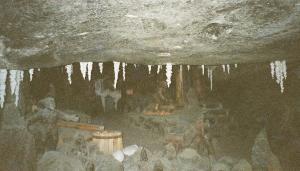 Salt stalagtites
