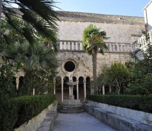 Franciscan Monastery courtyard