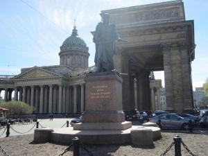 Statue at Kazan Cathedral (St Petersburg)
